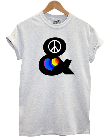 Hippie Rainbow Peace and Love t shirt - Inct Apparel