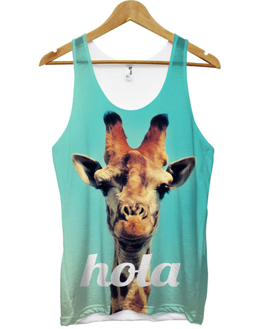Hola giraffe all over vest - Inct Apparel - 1