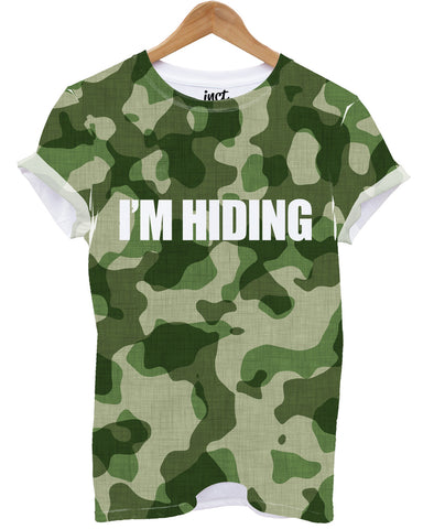 Camo i'm hiding all over print t shirt - Inct Apparel - 1