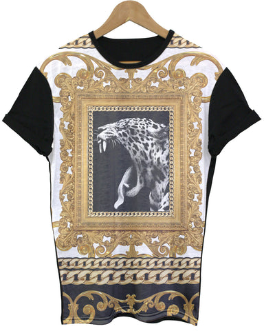 Leopard Black All Over T Shirt - Inct Apparel - 1