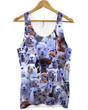 Llama all over print vest - Inct Apparel - 1