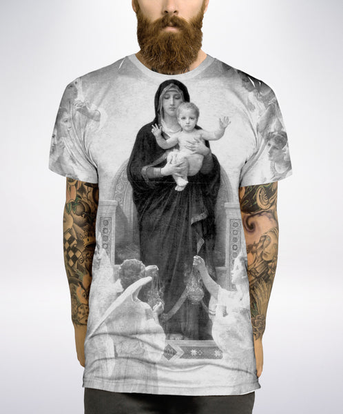 Blessed Black and White All Over T Shirt - Inct Apparel - 3