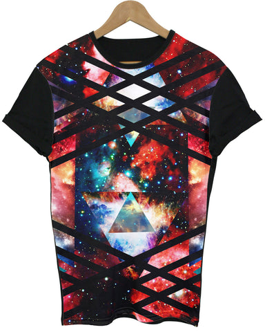 Multi Space Black All Over T Shirt - Inct Apparel - 1
