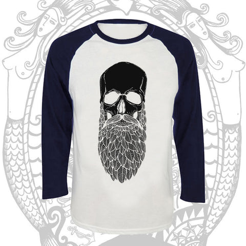 Ebony Bush Beard Raglan -  Cool Beard Bro Co. - Inct Apparel