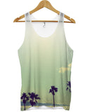 Palm tree fade all over vest - Inct Apparel - 1