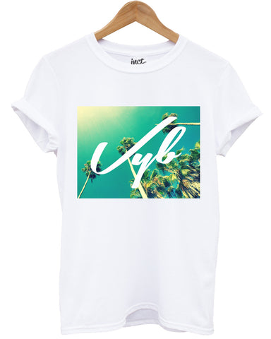 Vyb palm trees t shirt - Inct Apparel