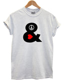 Peace and Love t shirt - Inct Apparel - 1