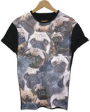 Pug Black All Over T Shirt - Inct Apparel - 1