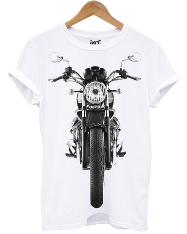 Retro motorcycle White T Shirt - Inct Apparel