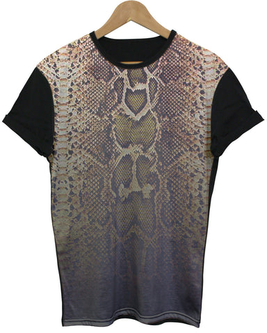 Snake Black All Over T Shirt - Inct Apparel - 1