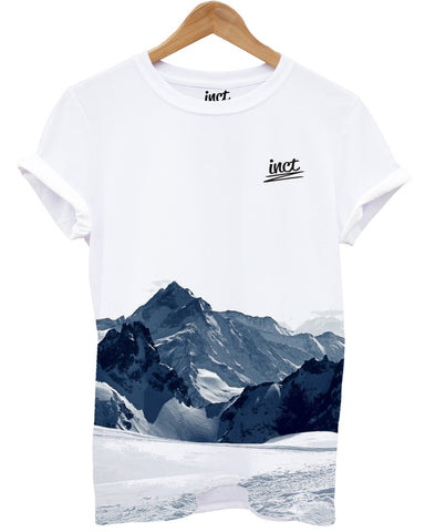 Inct apparel snowy mountain all over t shirt - Inct Apparel