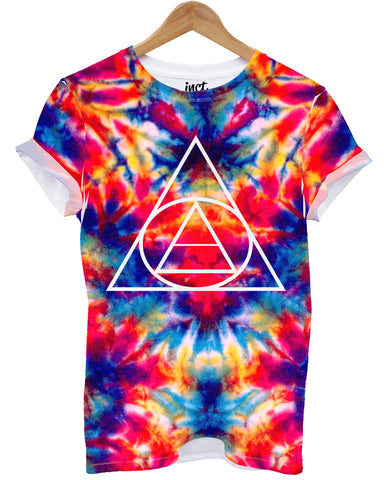Tie Dye Triangle All Over T Shirt - Inct Apparel