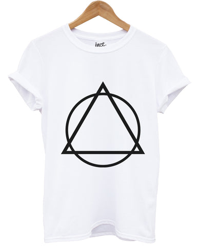 Triangle circle white t shirt - Inct Apparel