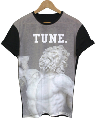 Tune Black All Over T Shirt - Inct Apparel - 1