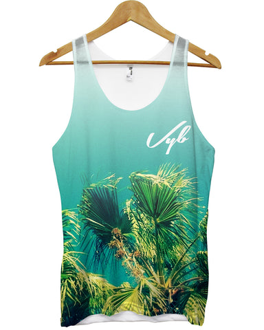 Vyb palm tree all over vest - Inct Apparel - 1
