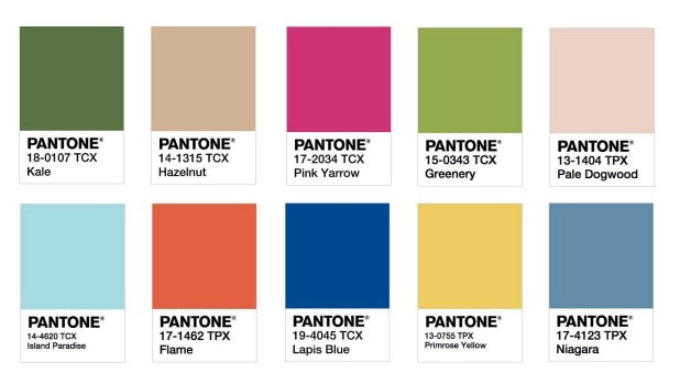 Pantone Colour of the year 2017, spring