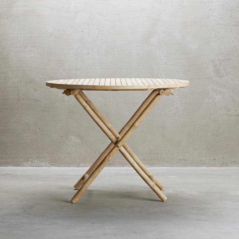 Round Folding Bamboo Table