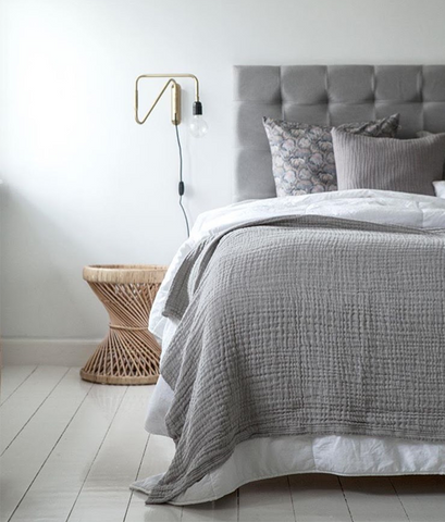 Boho throw - grey