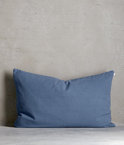 Soft cotton pillow 'Azul'