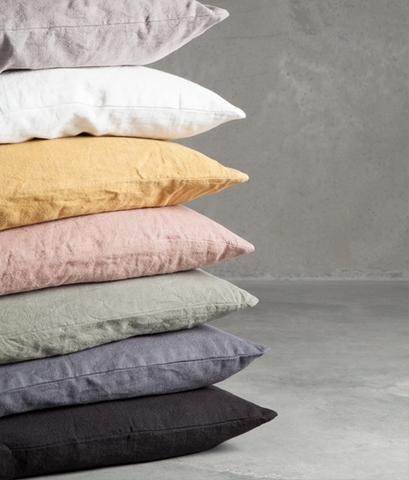 Curry linen pillow