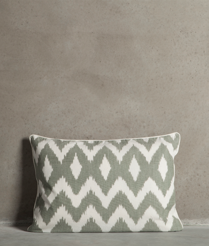 Ikat waved pillow
