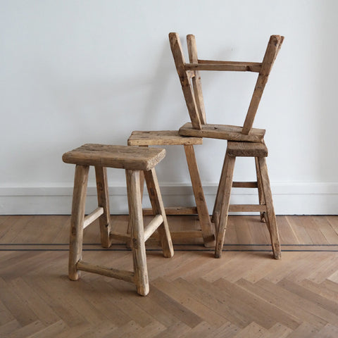 Elmwood square stool