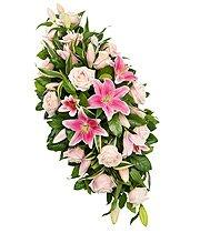 Double ended fresh flower funeral spray