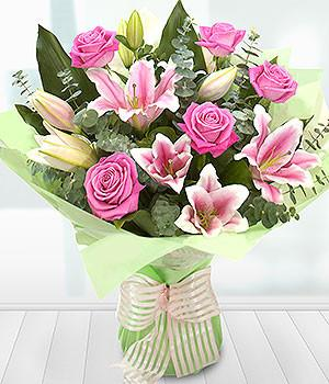 Pink Rose and Lilly Bouquet
