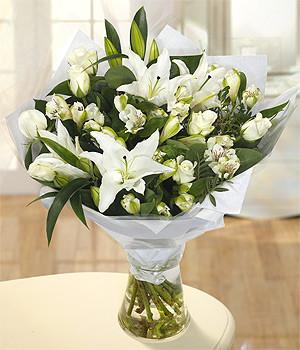 White Spectacular Bouquet from limerickflowers