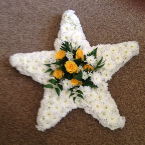 Five point star wreath/tribute