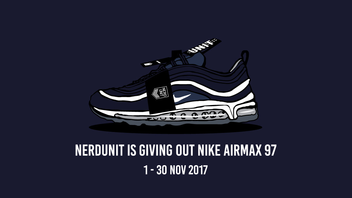 aaa2ce57ffd7d1 ... sweden nerdunit is generously giving away 3 pairs of midnight navy nike  airmax 97 ultra.