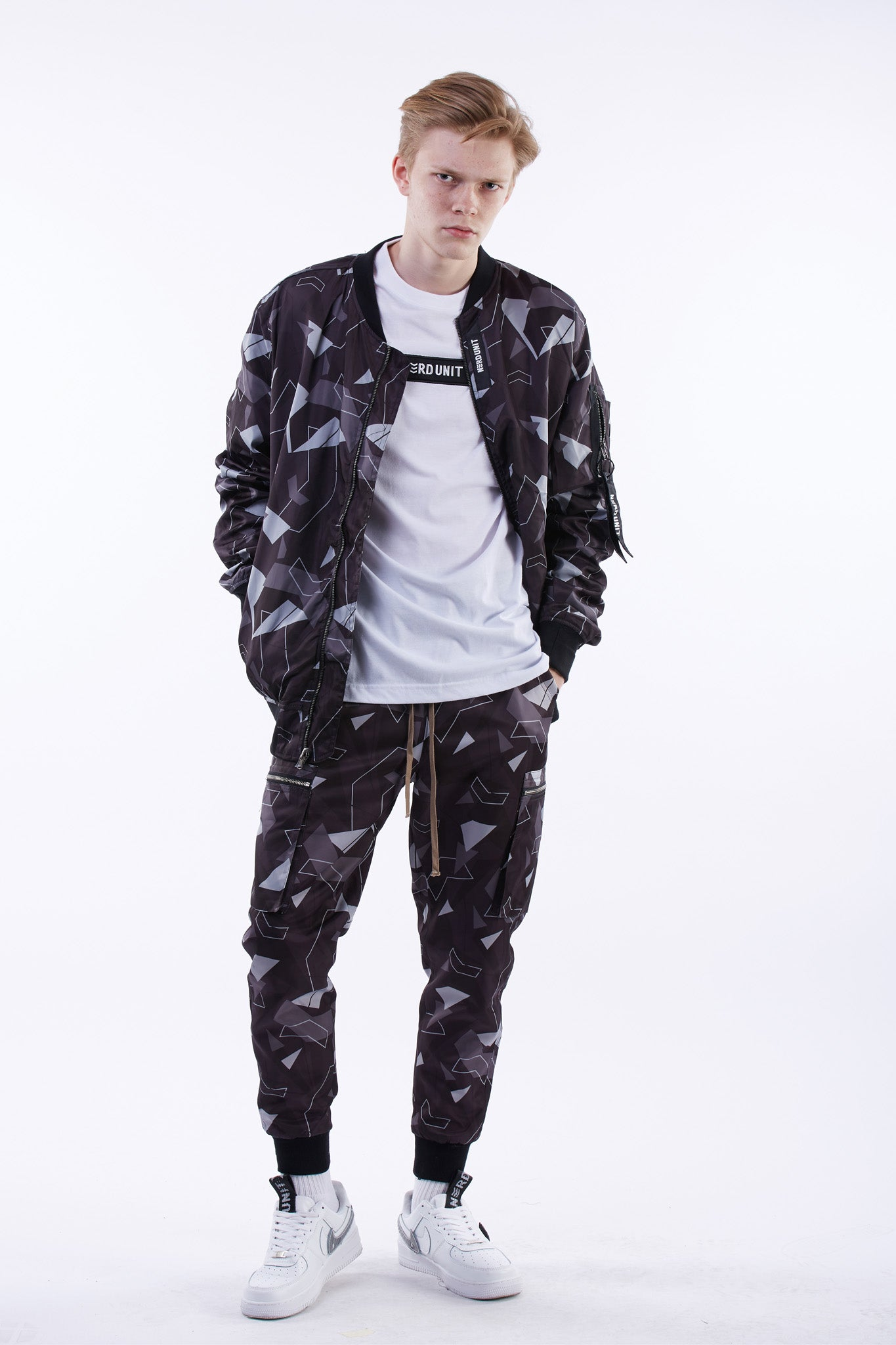 Black Camo Reversible MA1 Bomber Jacket
