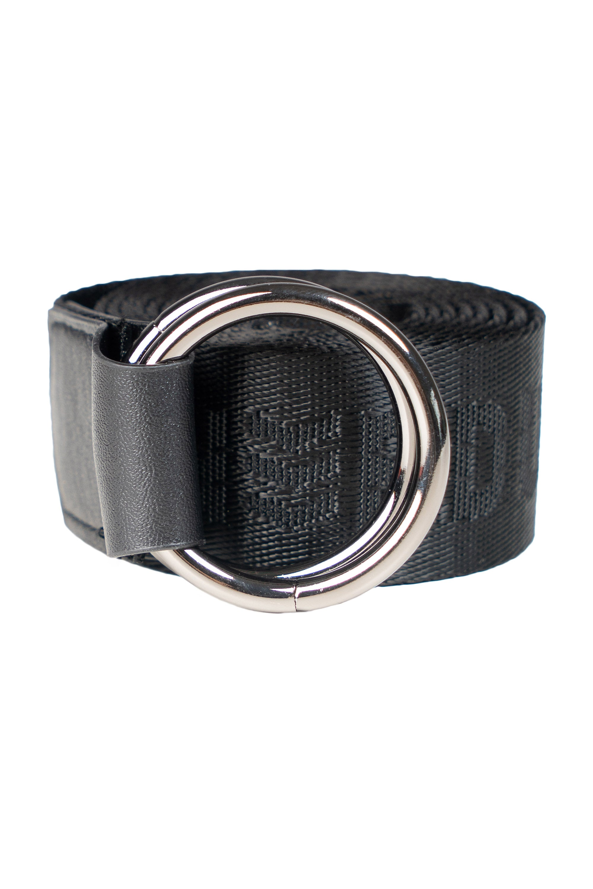 ALL BLACK STRAP BELT