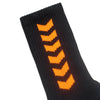 EMBLEM SOCKS | BLACK / ORANGE