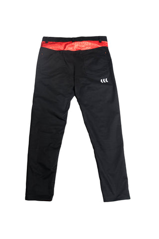 ORIENTAL CHINO PANTS | BLACK & RED