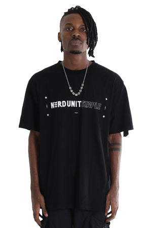 NU X STAPLE TEE  | BLACK