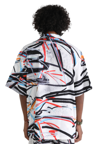 """SCRIBBLES"" HAWAIIAN SHIRT 