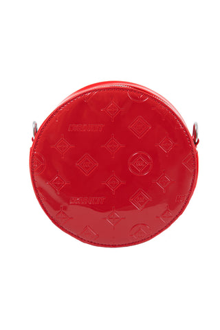 MONOGRAM ROUND BAG | RED