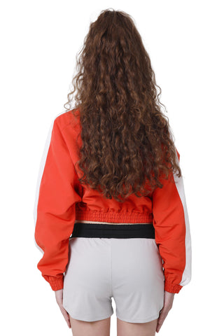 TRACK IT CROP JACKET | ORANGE