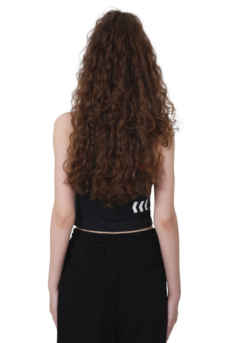 CUT IN CROP TOP | BLACK