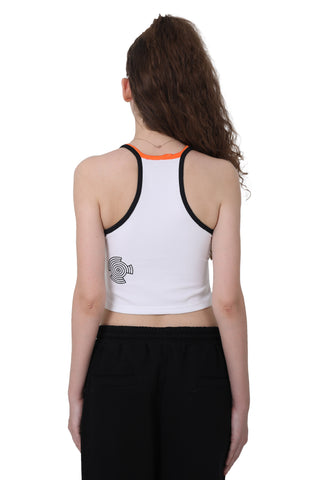 CUT IN CROP TOP | WHITE