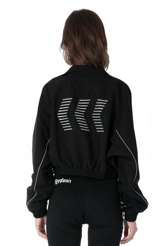 ACTIVE CROP JACKET | BLACK