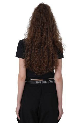 HIGH CROP TOP | BLACK