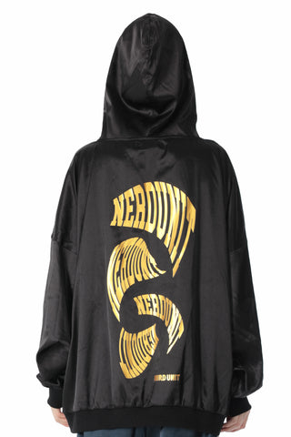 ABSTRACT METALLIC HOODIE | BLACK