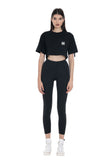 PATCH POCKET CROP TOP | BLACK