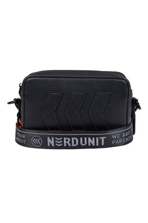 EMBLEM SLING BAG | BLACK ORANGE