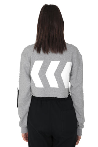 DASH CROPPED SWEATER | GREY
