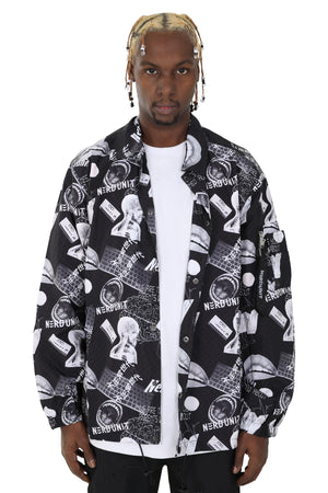 MF ALL OVER PRINT COACH JACKET | GRAY - SALES