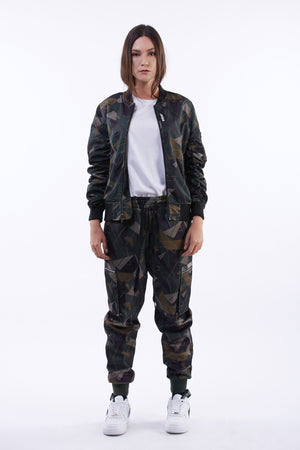 GREEN CAMO REVERSIBLE MA1 BOMBER JACKET | GREEN - SALES
