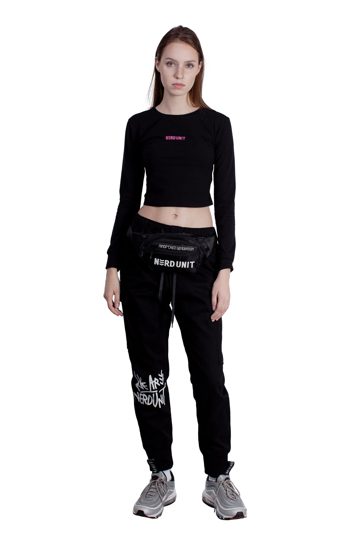 EMBLEM LONG SLEEVES CROP TOP